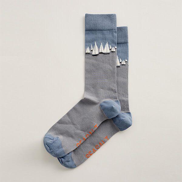 Seasalt Men's Arty Socks Salt Crystal Pool