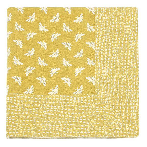 Walton & Co Ochre Bee Tablecloth 100x100cm