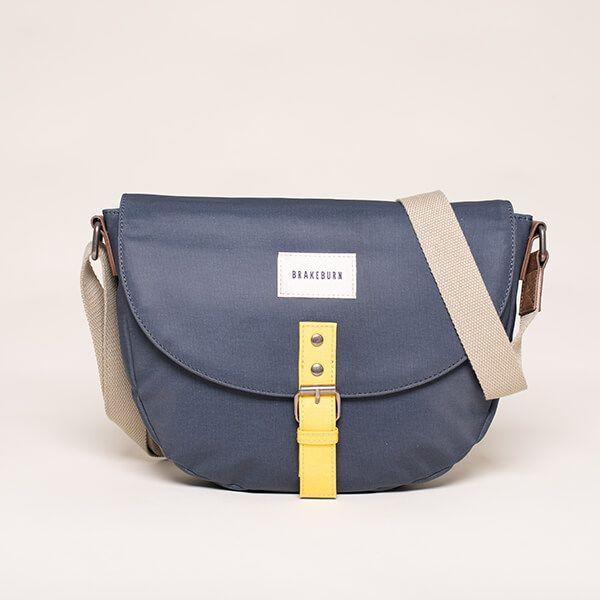 Brakeburn Navy Saddle Bag