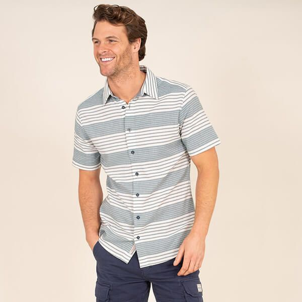 Brakeburn Short Sleeve Stripe Shirt