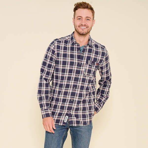 Brakeburn Navy Check Shirt