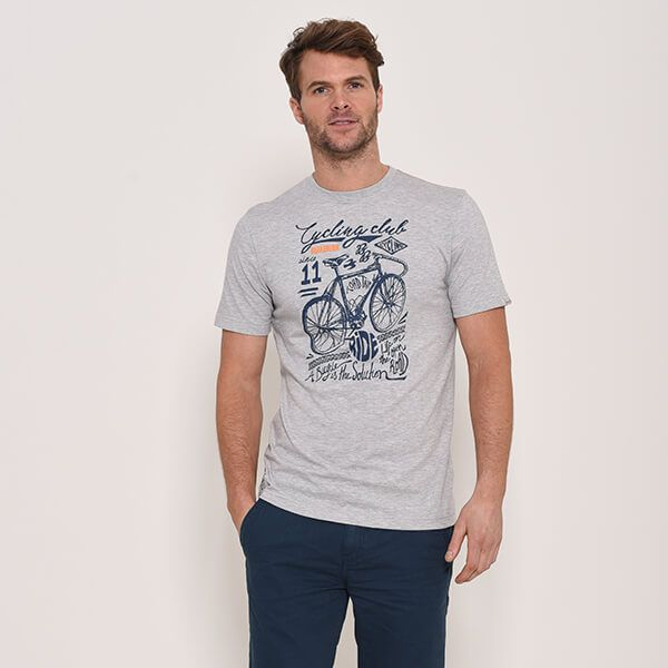 Brakeburn Grey Cycling Club T-Shirt