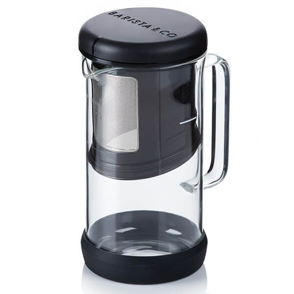 Barista & Co Made Simple OneBrew Coffee and Tea Infuser Black