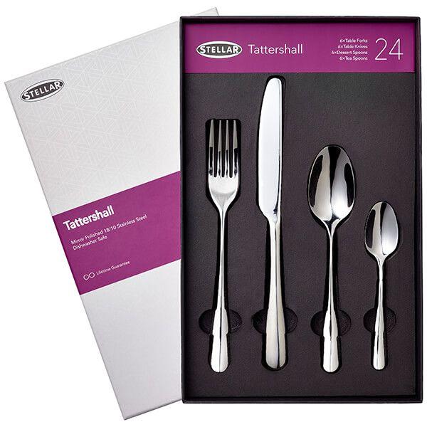 Stellar Tattershall Stainless Steel 24 Piece Cutlery Gift Box Set