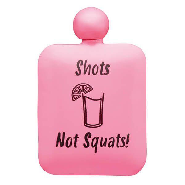 Barcraft Hip Flask Shots Not Squats 145ml Neon Pink