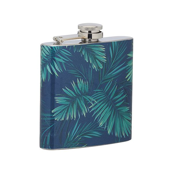 BarCraft Palm Print Hip Flask 175ml