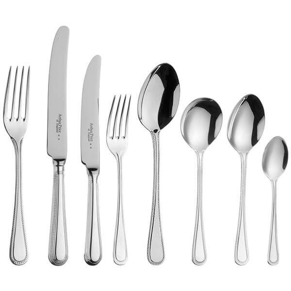 Arthur Price of England Sovereign Silver Plate Bead 44 Piece Cutlery Box Set