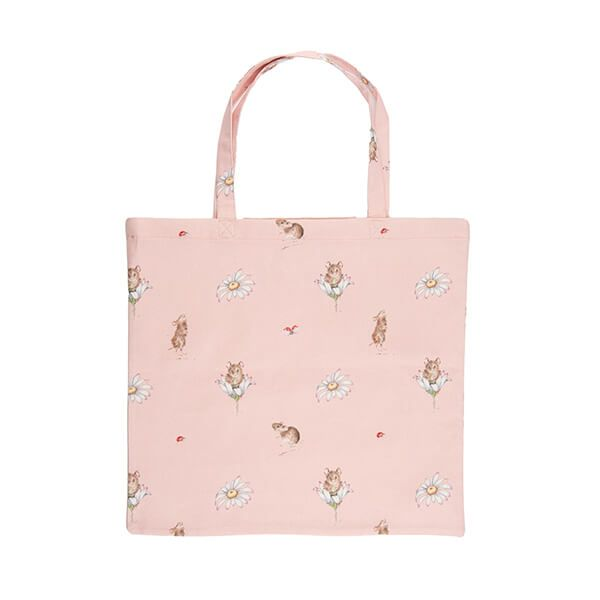 Wrendale Designs Foldable Shopping Bag - Mouse & Daisy