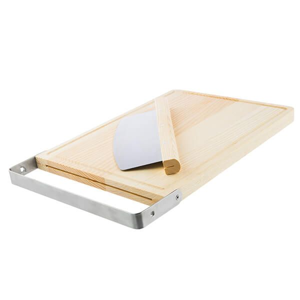 Bakehouse & Co Ash Chopping Board With Rocker Cutter