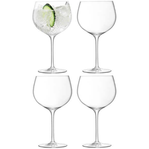 LSA Balloon Gin Glass 680ml Clear Set Of 4