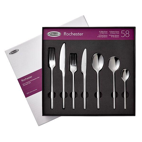 Stellar Rochester Polished 58 Piece Cutlery Gift Box Set