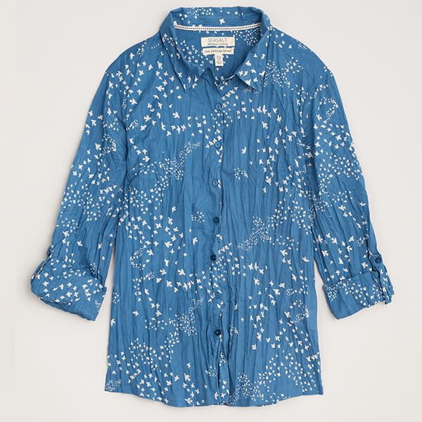 Seasalt Larissa Shirt Murmuration Cornish Blue