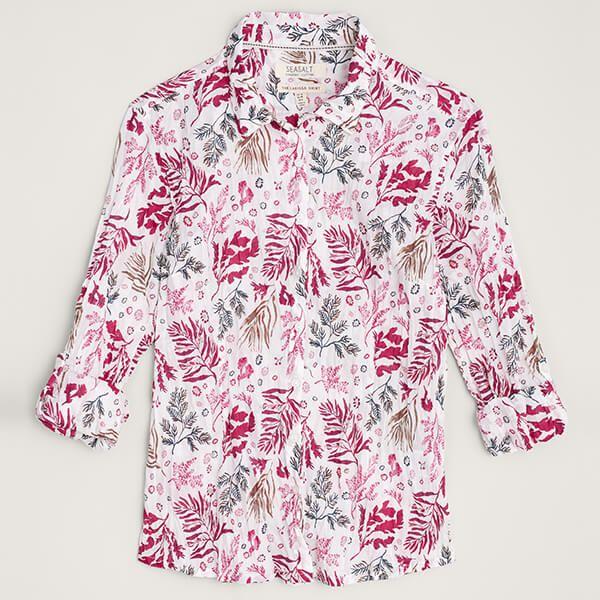 Seasalt Larissa Shirt Inked Seaweed Chalk