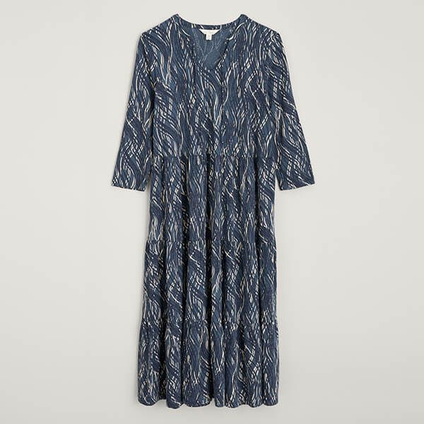 Seasalt Sky View Dress Ripple Waves Rich Blue