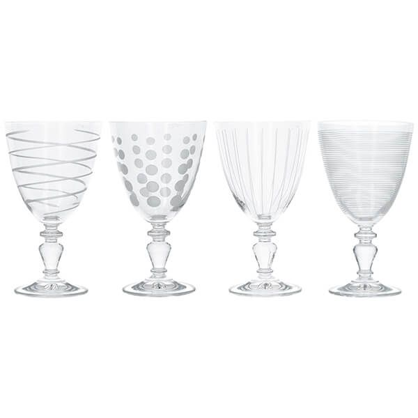 Mikasa Cheers Set Of 4 Glass Goblets