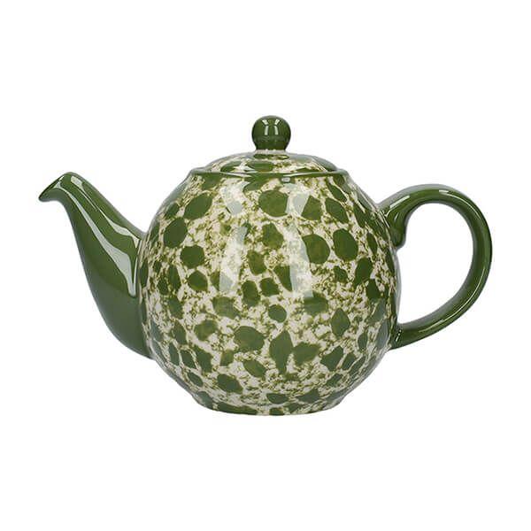 London Pottery Splash Globe 2 Cup Teapot Green