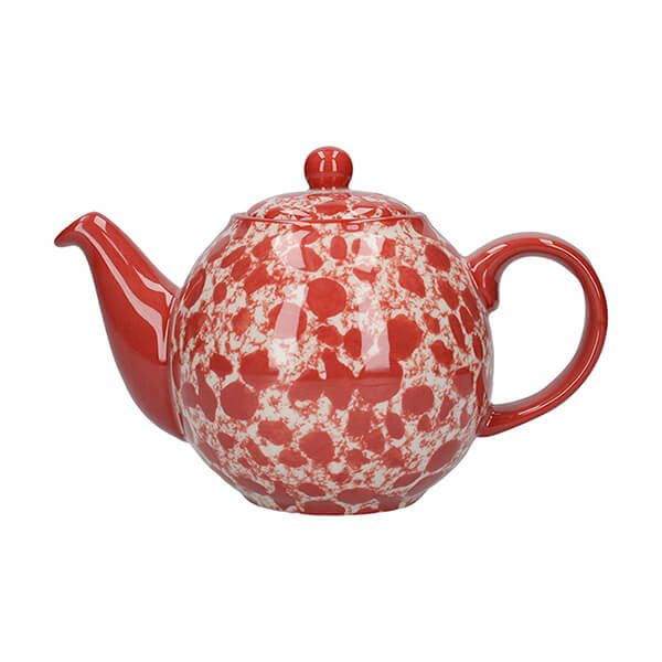 London Pottery Splash Globe 2 Cup Teapot Red