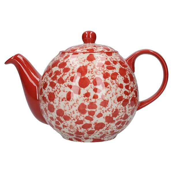 London Pottery Splash Globe 4 Cup Teapot Red