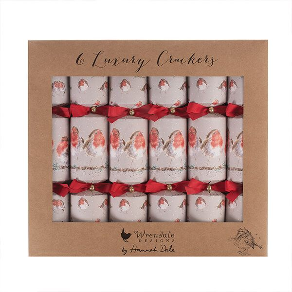 Wrendale Designs Christmas Crackers Robin Box of 6