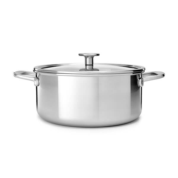 KitchenAid Multi-Ply Stainless Steel 3ply 20cm Casserole with Lid