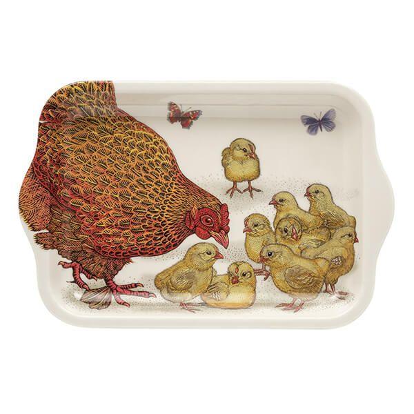 Vanessa Lubach Chickens Small Melamine Tray