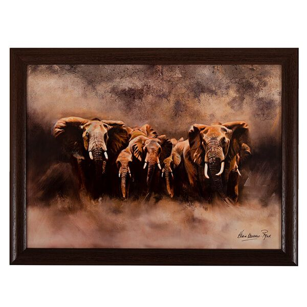 Country Matters Karen Laurence-Rowe Line of Defence Lap Tray