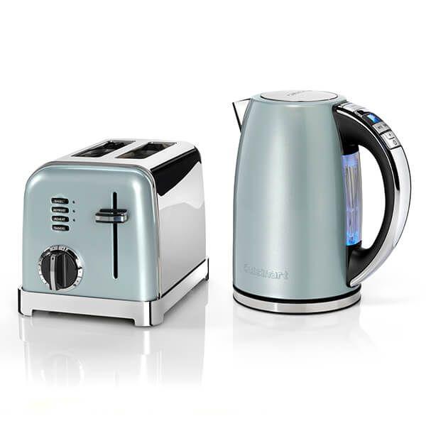 Cuisinart Style Light Pistachio Multi-Temp Kettle & 2 Slice Toaster Breakfast Set