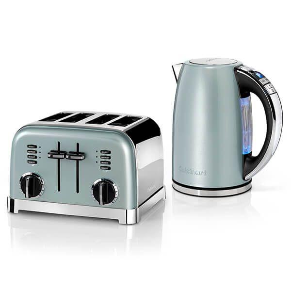 Cuisinart Style Light Pistachio Multi-Temp Kettle & 4 Slice Toaster Breakfast Set