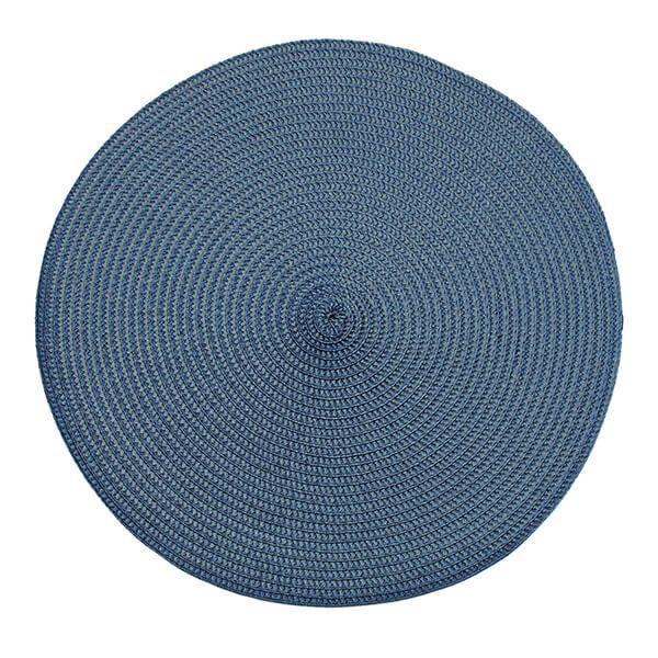 Walton & Co Slate Blue Circular Ribbed Placemat