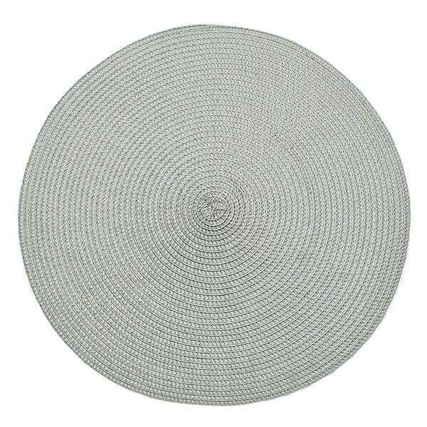Walton & Co Dove Grey Circular Ribbed Placemat