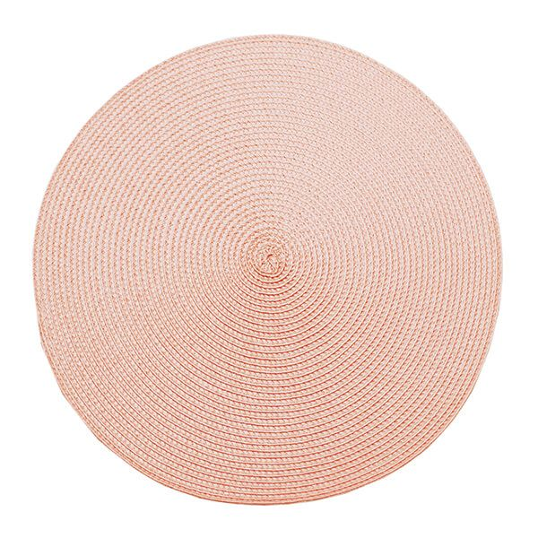 Walton & Co Pink Quartz Circular Ribbed Placemat