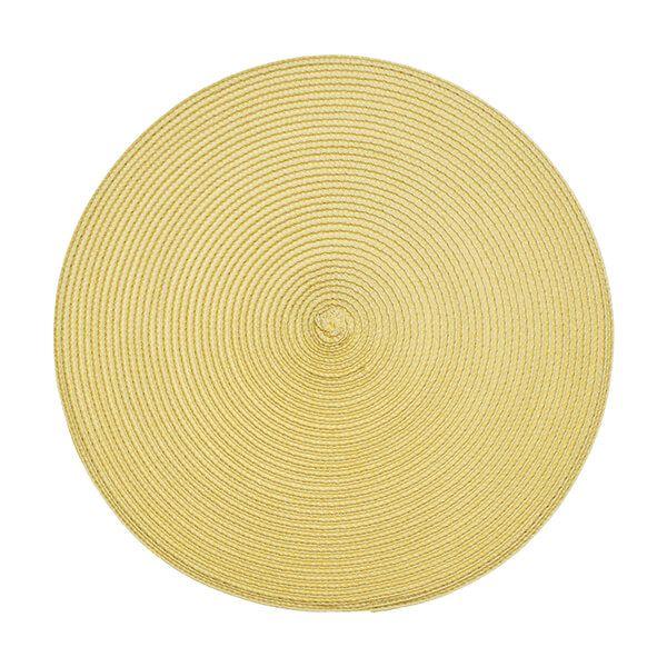 Walton & Co Saffron Circular Ribbed Placemat