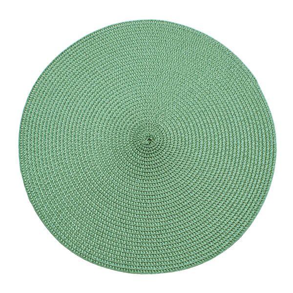 Walton & Co Sage Circular Ribbed Placemat