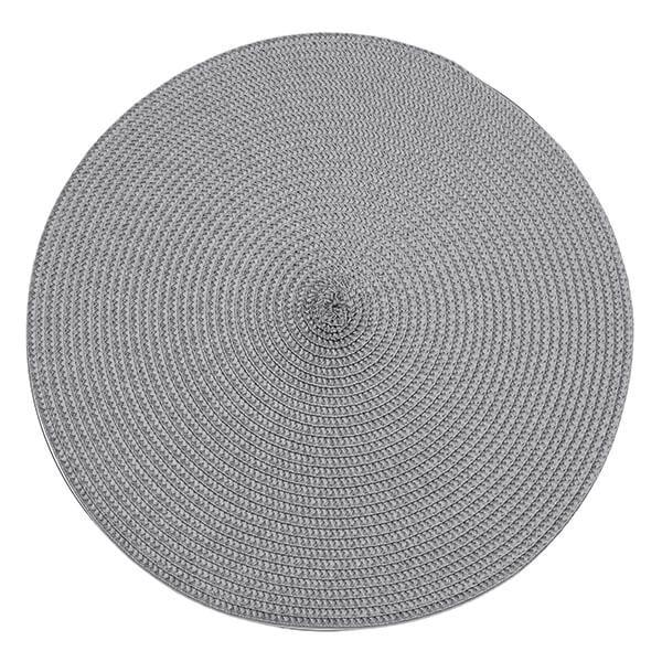 Walton & Co Storm Grey Circular Ribbed Placemat