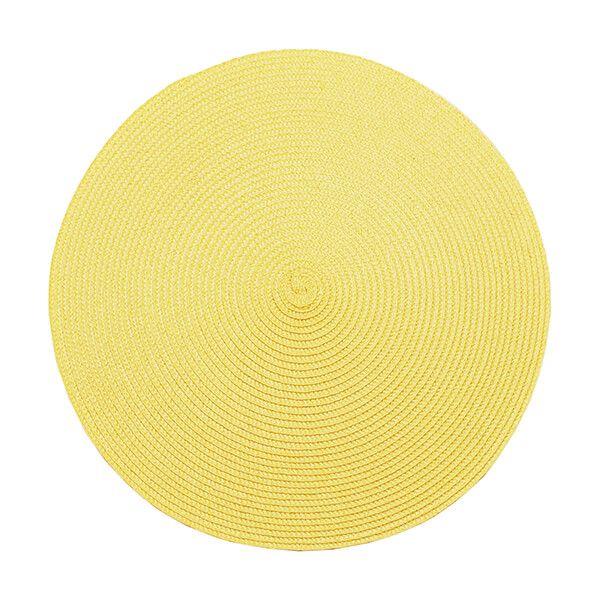 Walton & Co Ochre Circular Ribbed Placemat