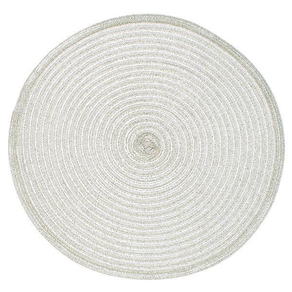 Walton & Co Silver Circular Woven Lurex Placemat