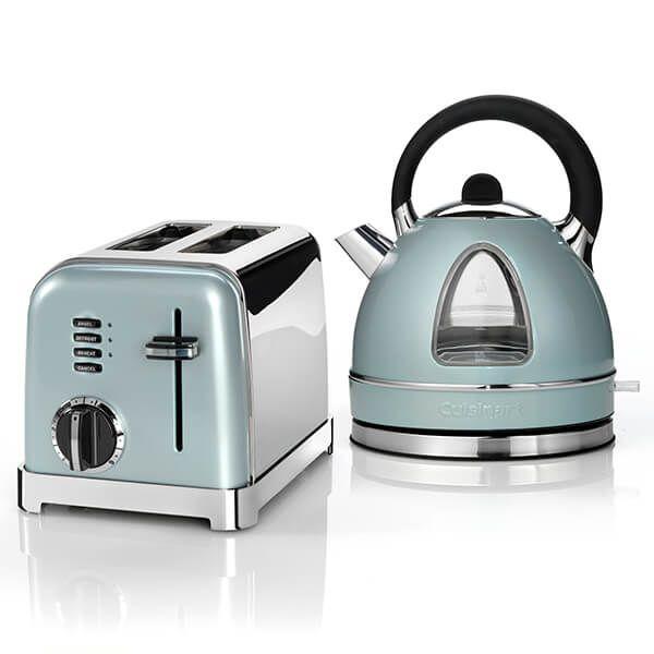 Cuisinart Style Light Pistachio Traditional Kettle & 2 Slice Toaster Breakfast Set