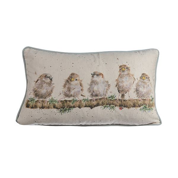 Wrendale Chirpy Chaps Rectangular Cushion