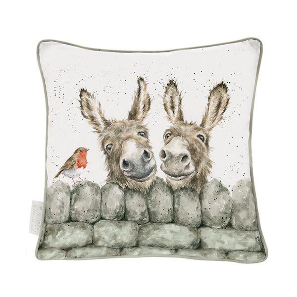 Wrendale Designs Hee Haw Donkeys Cushion