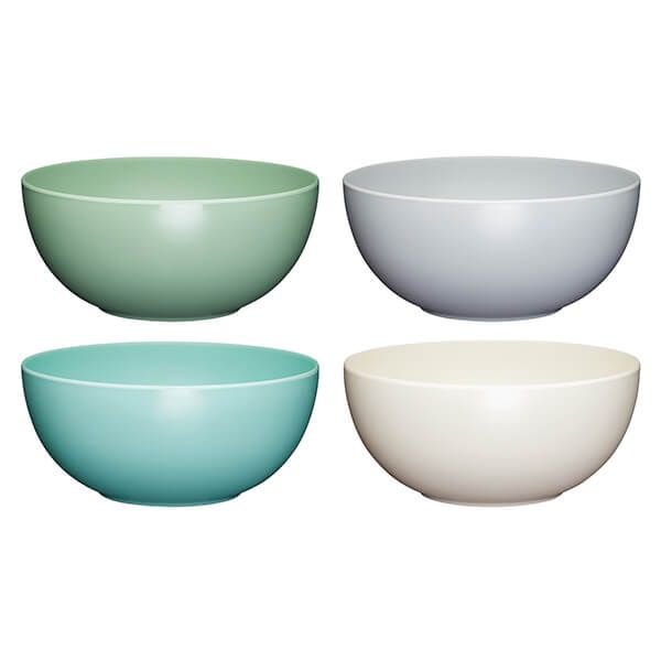 Colourworks Classics Set of Four 15cm Melamine Bowls