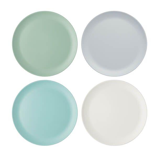 Colourworks Classics Set of Four 28cm Melamine Dinner Plates
