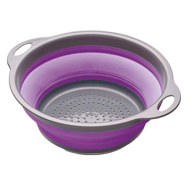 Colourworks Purple 24cm Collapsible Colander