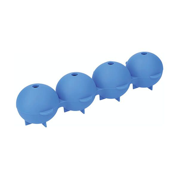 Colourworks Brights Blue Easy Pop Silicone Spherical Ice Mould