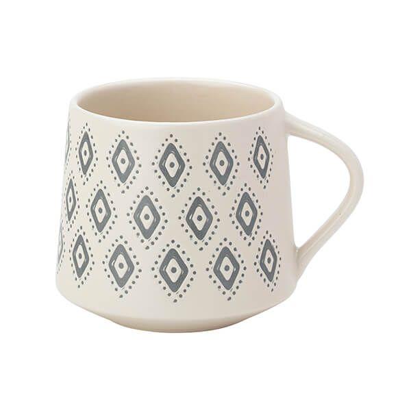 English Tableware Company Artisan Aztec Matt Cream Mug