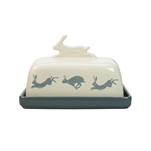 English Tableware Company Artisan Hare Butter Dish
