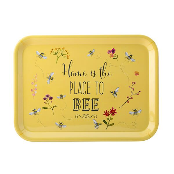 English Tableware Company Bee Happy 'Home is the Place to Bee' Large Melamine Gloss Tray