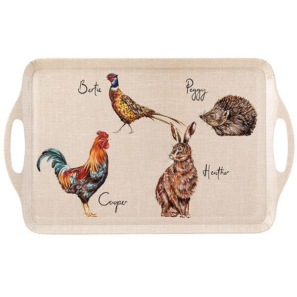 English Tableware Company Edale Large Tray Animal Design