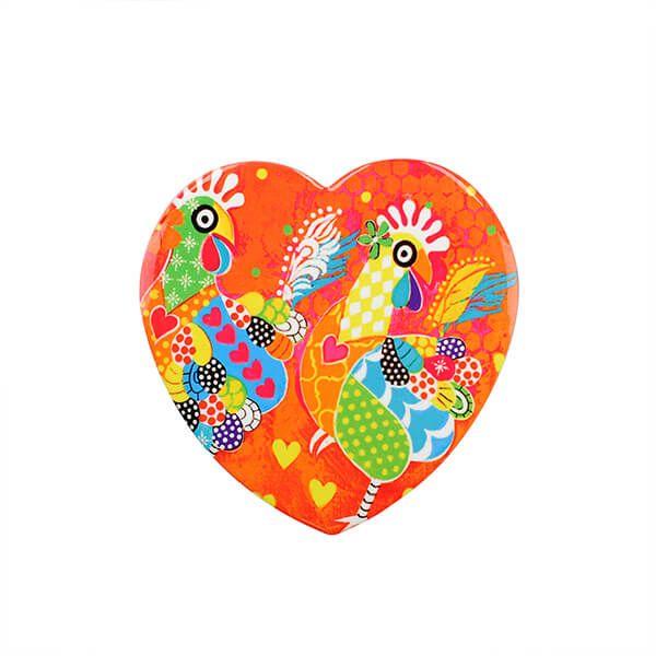 Maxwell & Williams Love Hearts Chicken Dance 10cm Ceramic Coaster