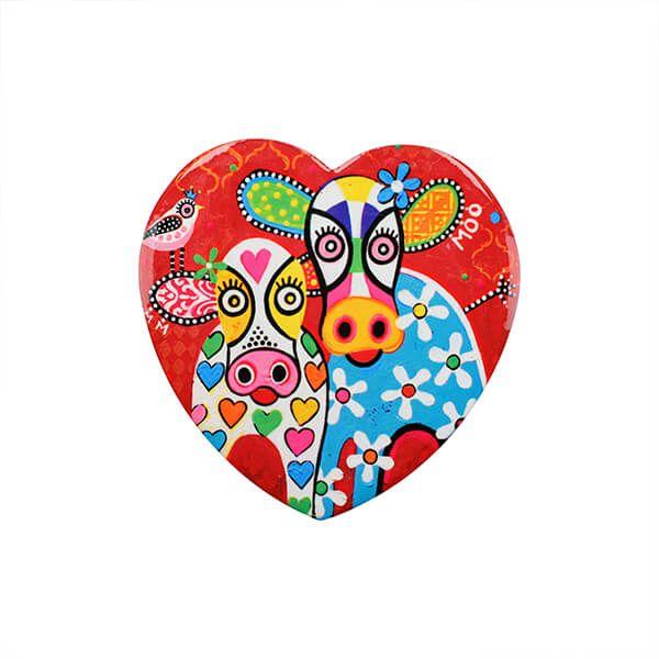 Maxwell & Williams Love Hearts Happy Moo Day 10cm Ceramic Coaster