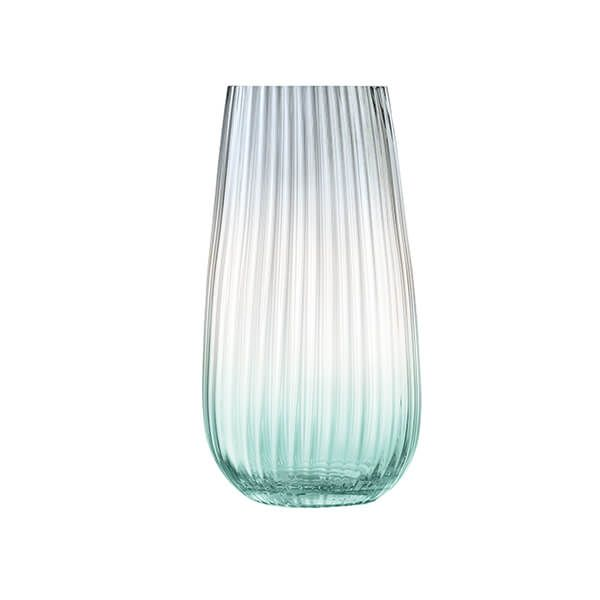 LSA Dusk Vase 28cm Green & Grey